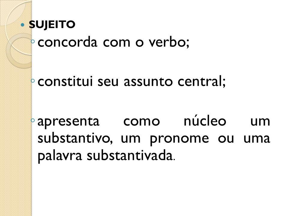 8) Classifique o sujeito em simples, composto, indeterminado.