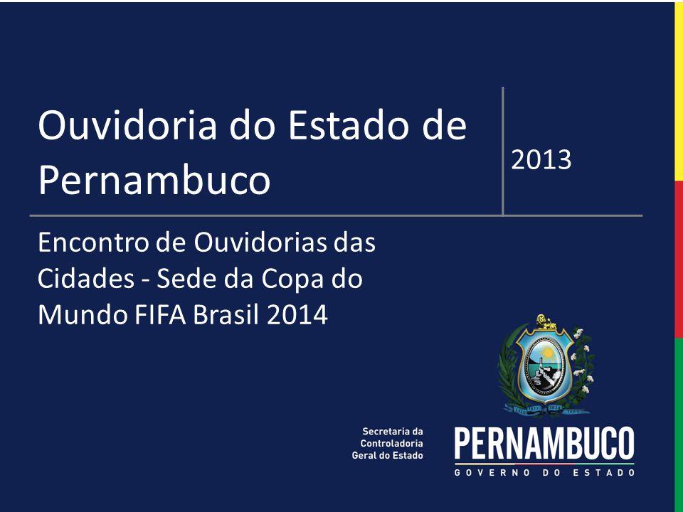 1 ESTUDO DE PERSPECTIVAS DE AÇÕES SISTEMÁTICAS Ouvidoria do Estado de Pernambuco 2013 Encontro de Ouvidorias das Cidades - Sede da Copa do Mundo FIFA