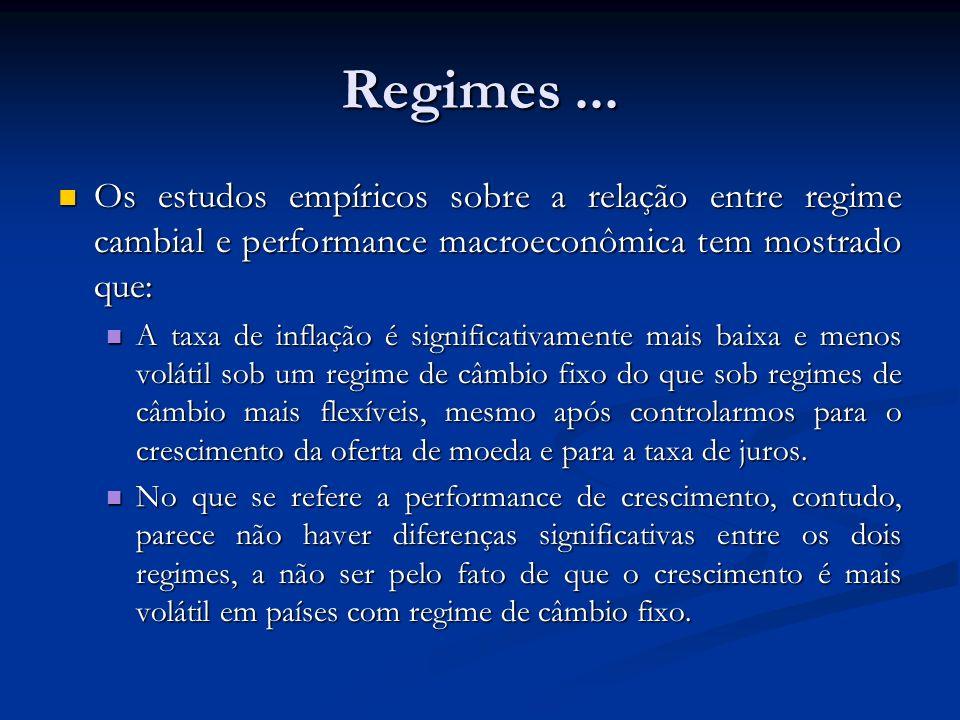 Regimes...