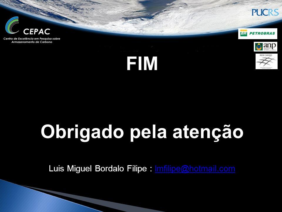 FIM Obrigado pela atenção Luis Miguel Bordalo Filipe : lmfilipe@hotmail.comlmfilipe@hotmail.com