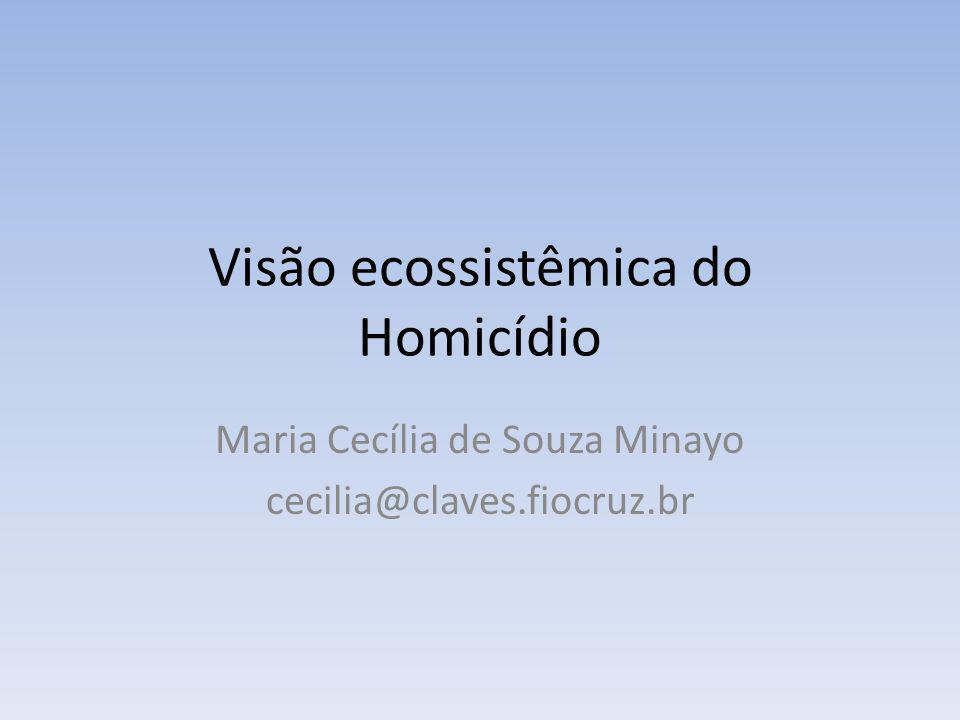Visão ecossistêmica do Homicídio Maria Cecília de Souza Minayo cecilia@claves.fiocruz.br