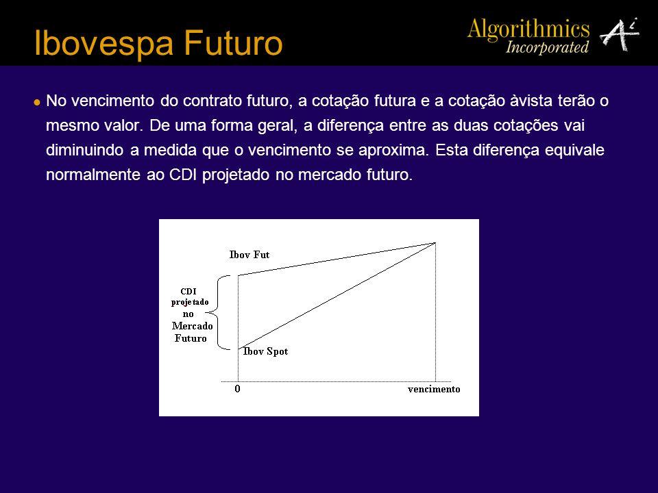Ibovespa Futuro No vencimento do contrato futuro, a cotação futura e a cotação àvista terão o mesmo valor. De uma forma geral, a diferença entre as du