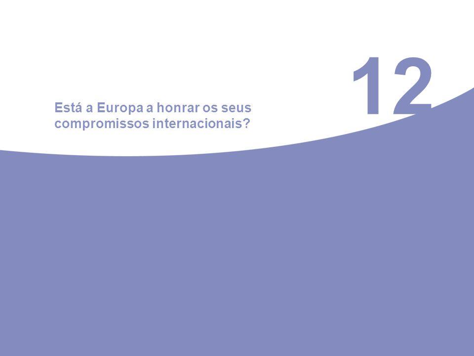 12 Está a Europa a honrar os seus compromissos internacionais?