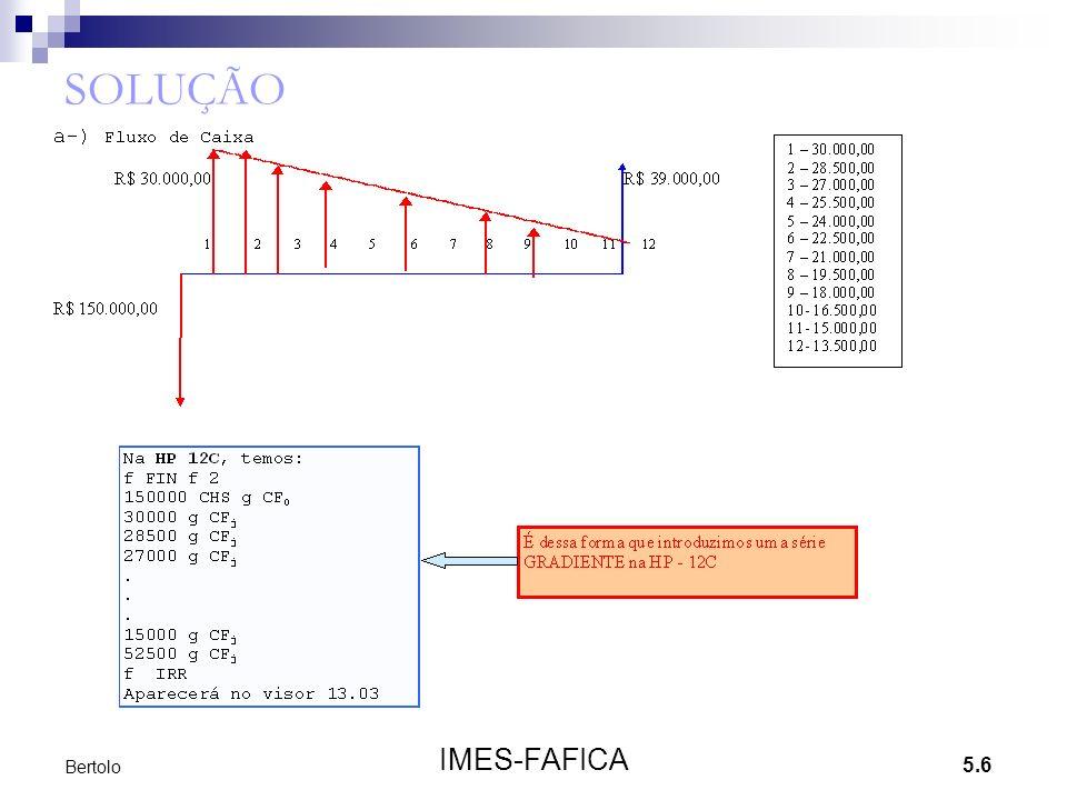 5.7 IMES-FAFICA Bertolo Exemplo 2 Um investidor comprou 100 ações por R$ 3.500,00.