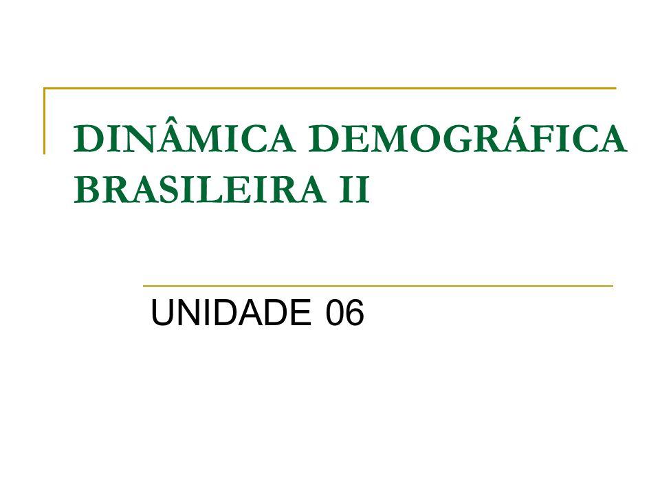 DINÂMICA DEMOGRÁFICA BRASILEIRA II UNIDADE 06