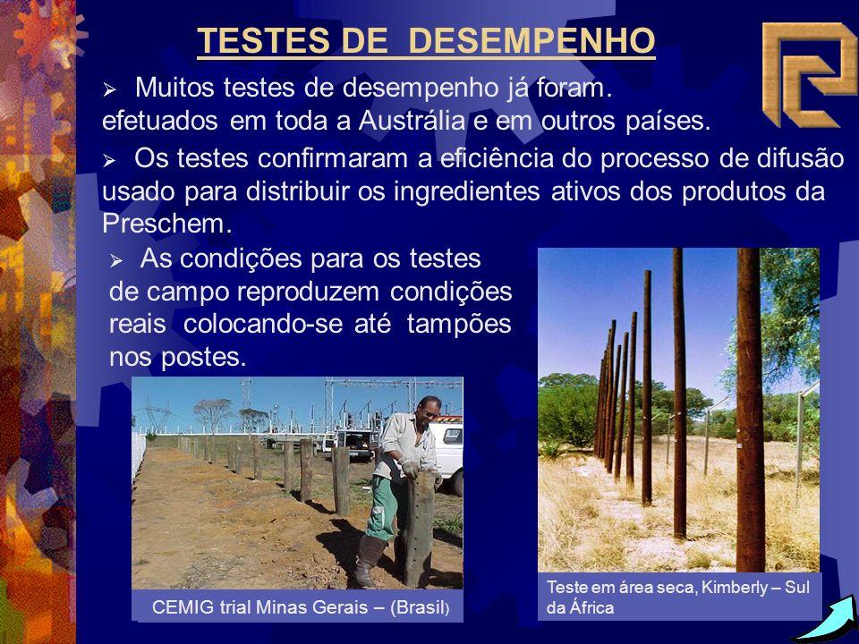 Removendo amostras do cume Cato na África do Sul TESTES DE DESEMPENHO Muitos testes de desempenho já foram. efetuados em toda a Austrália e em outros
