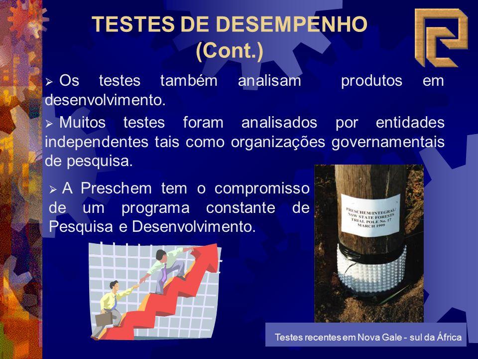 TESTES DE DESEMPENHO (Cont.) Os testes também analisam produtos em desenvolvimento.