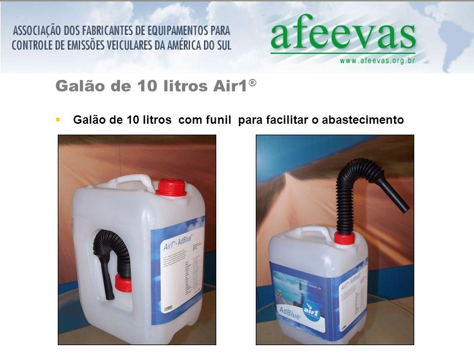 Galão de 10 litros Air1 ® Galão de 10 litros com funil para facilitar o abastecimento