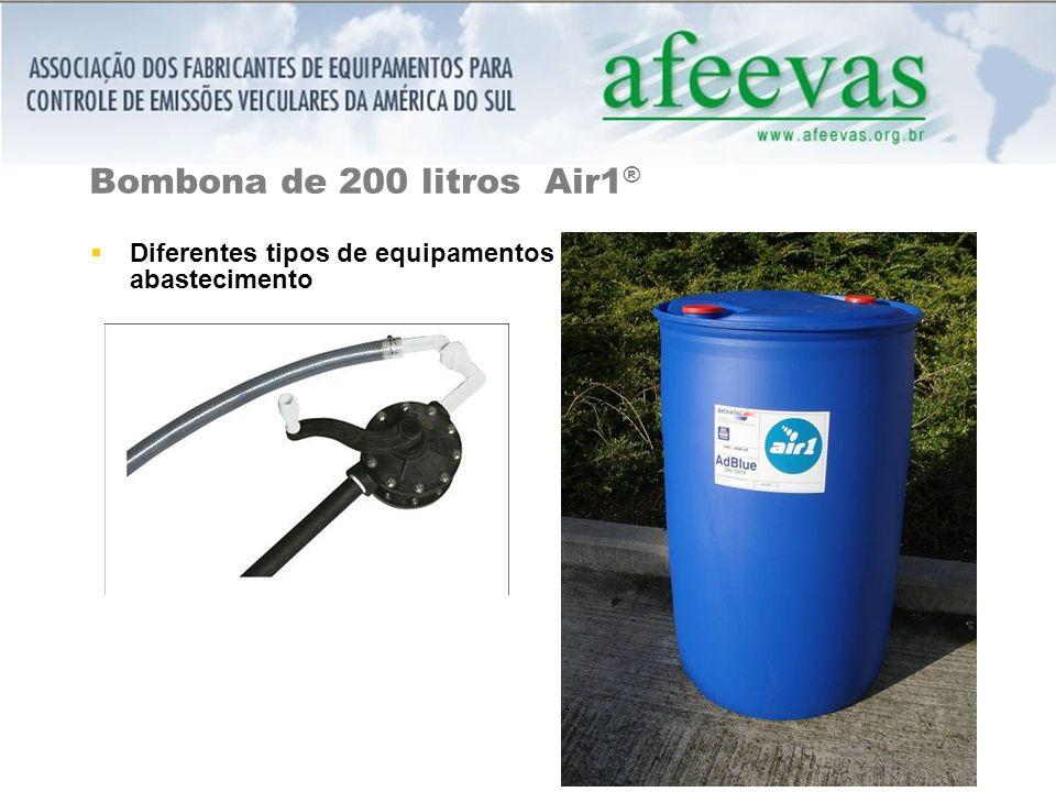 Bombona de 200 litros Air1 ® Diferentes tipos de equipamentos abastecimento