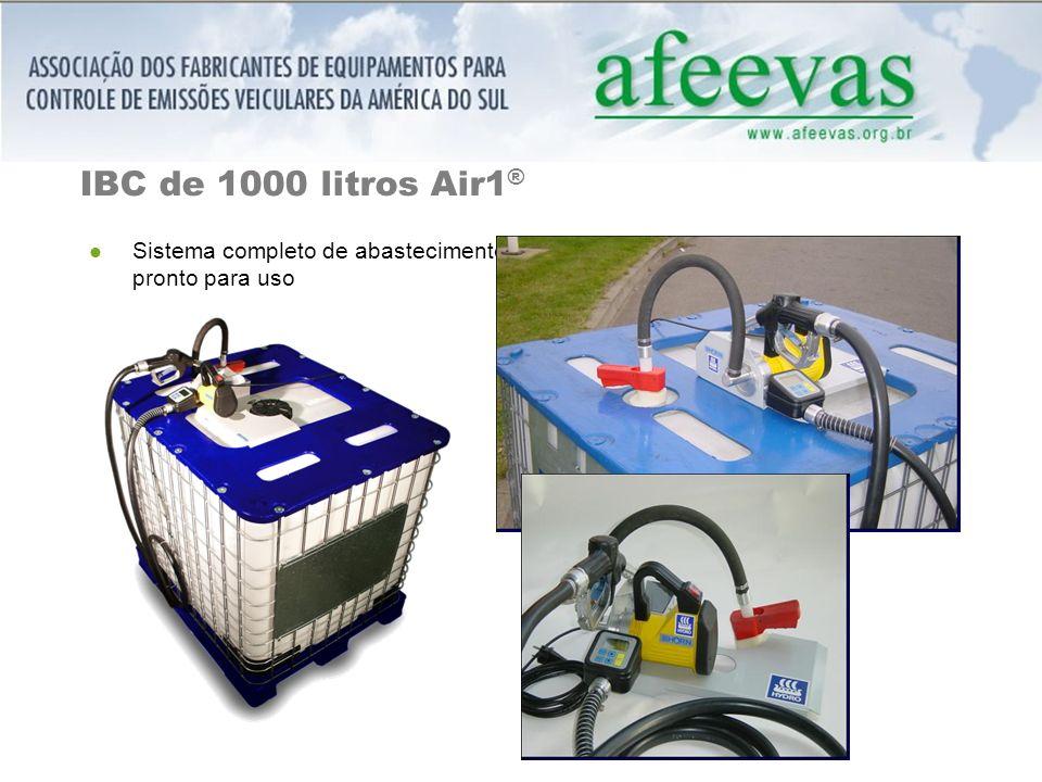 IBC de 1000 litros Air1 ® Sistema completo de abastecimento pronto para uso