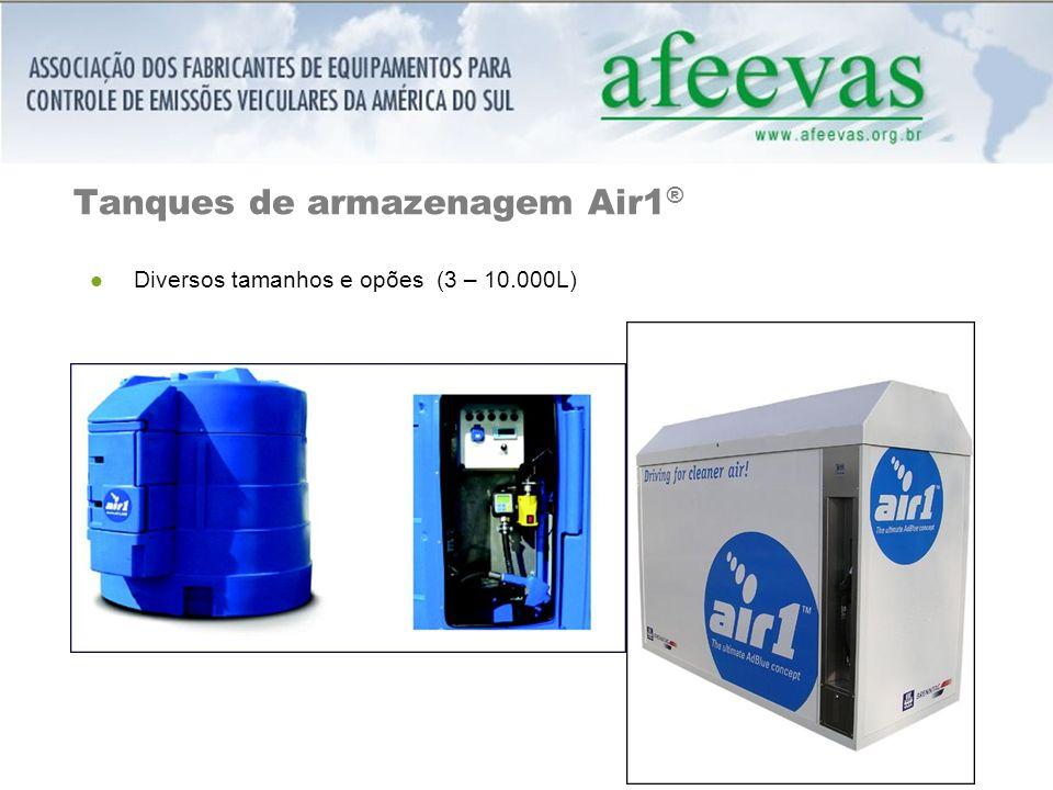 Tanques de armazenagem Air1 ® Diversos tamanhos e opões (3 – 10.000L)