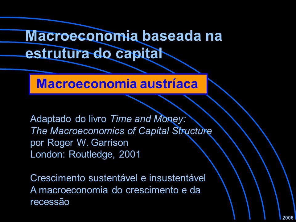 Macroeconomia baseada na estrutura do capital Crescimento sustentável e insustentável A macroeconomia do crescimento e da recessão 2006 Adaptado do livro Time and Money: The Macroeconomics of Capital Structure por Roger W.