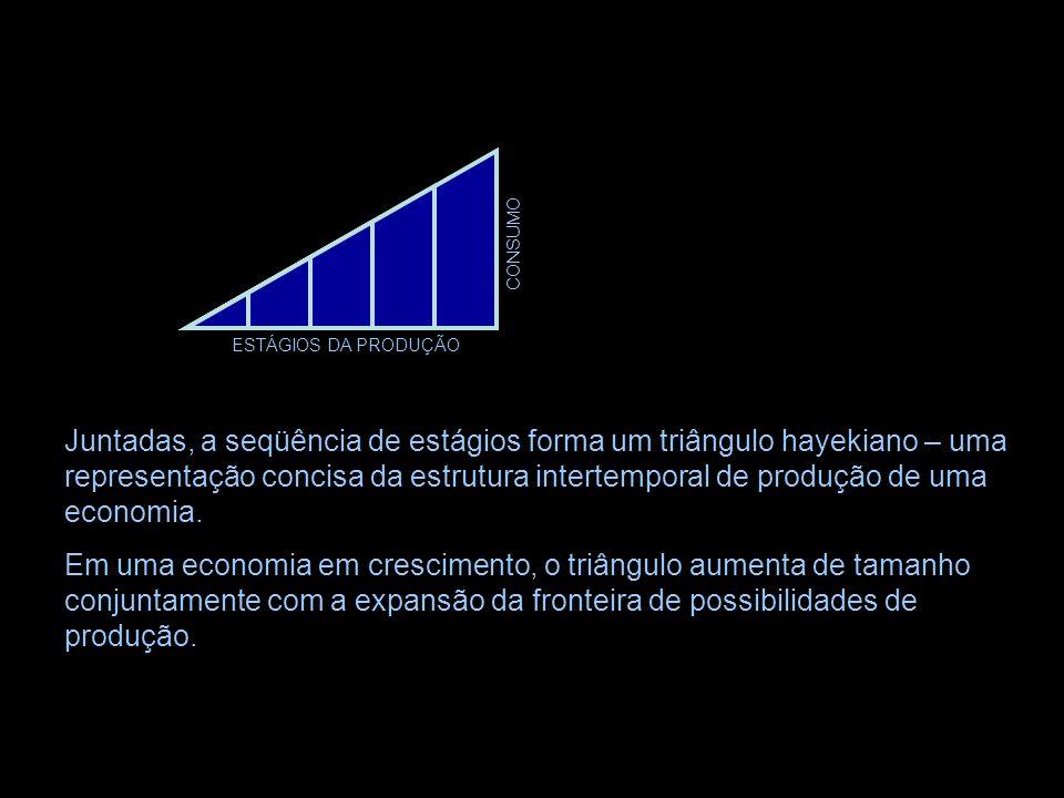 A Estrutura da Produção ESTÁGIOS DA PRODUÇÃO CONSUMO Por mera conveniência pedagógica, a estrutura inicial do capital será mostrada como tendo apenas
