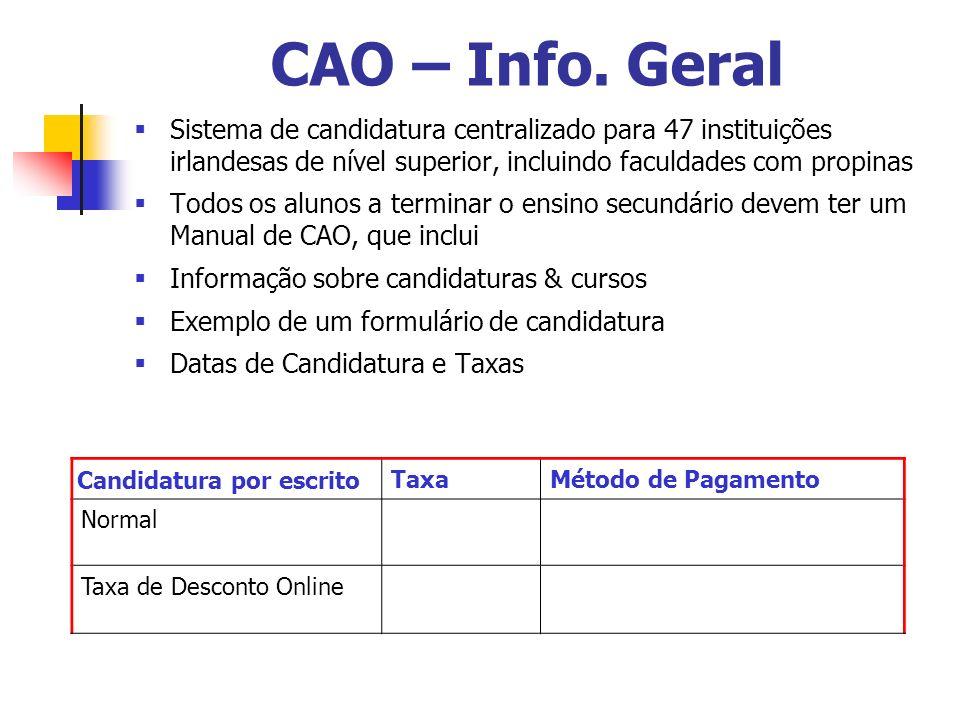 CAO – Info.