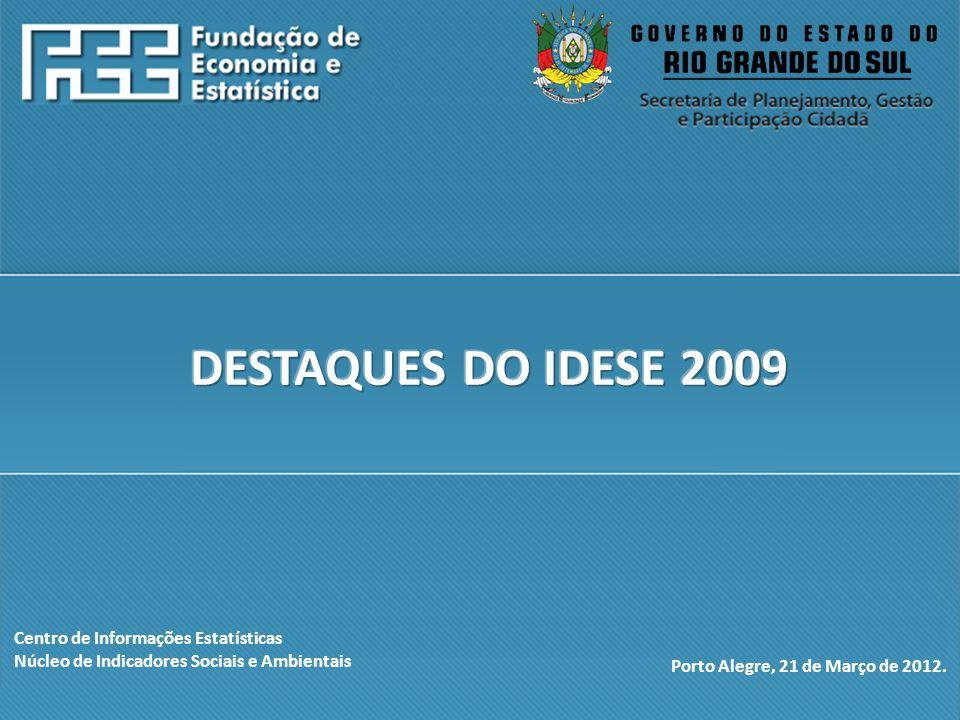 http://www.fee.rs.gov.br Centro de Informações Estatísticas Núcleo de Indicadores Sociais e Ambientais Porto Alegre, 21 de Março de 2012.