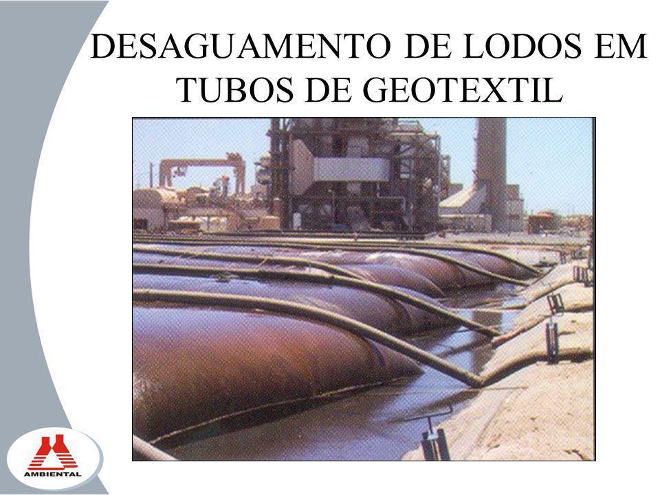 DESAGUAMENTO DE LODOS EM TUBOS DE GEOTEXTIL