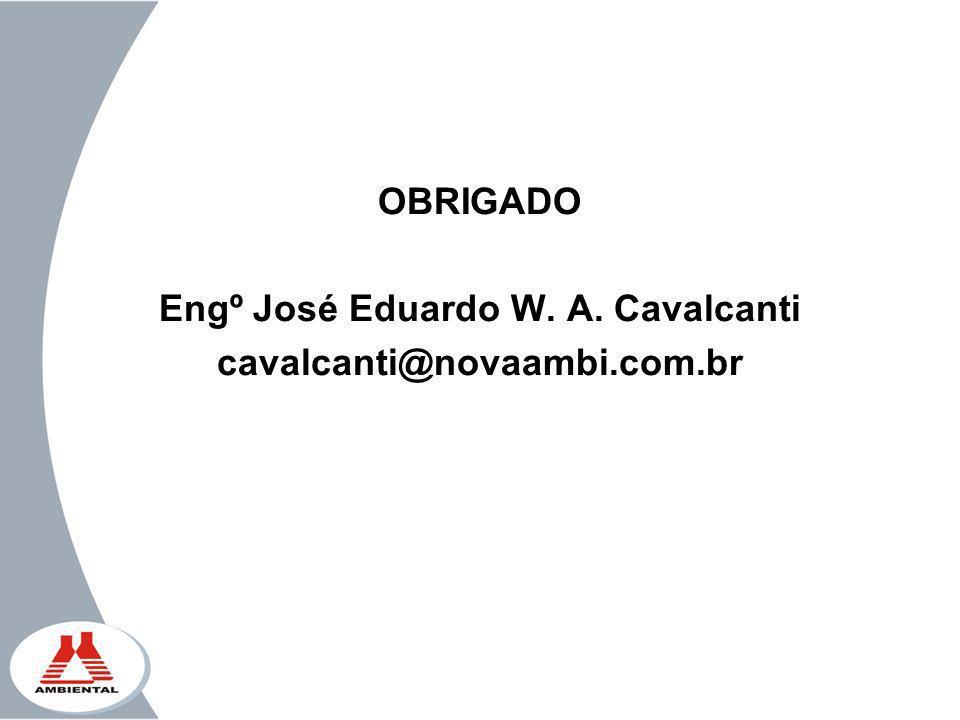 OBRIGADO Engº José Eduardo W. A. Cavalcanti cavalcanti@novaambi.com.br