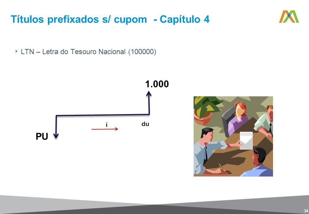 Títulos prefixados s/ cupom - Capítulo 4 34 LTN – Letra do Tesouro Nacional (100000)