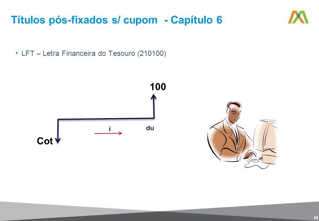 Títulos pós-fixados s/ cupom - Capítulo 6 42 LFT – Letra Financeira do Tesouro (210100)