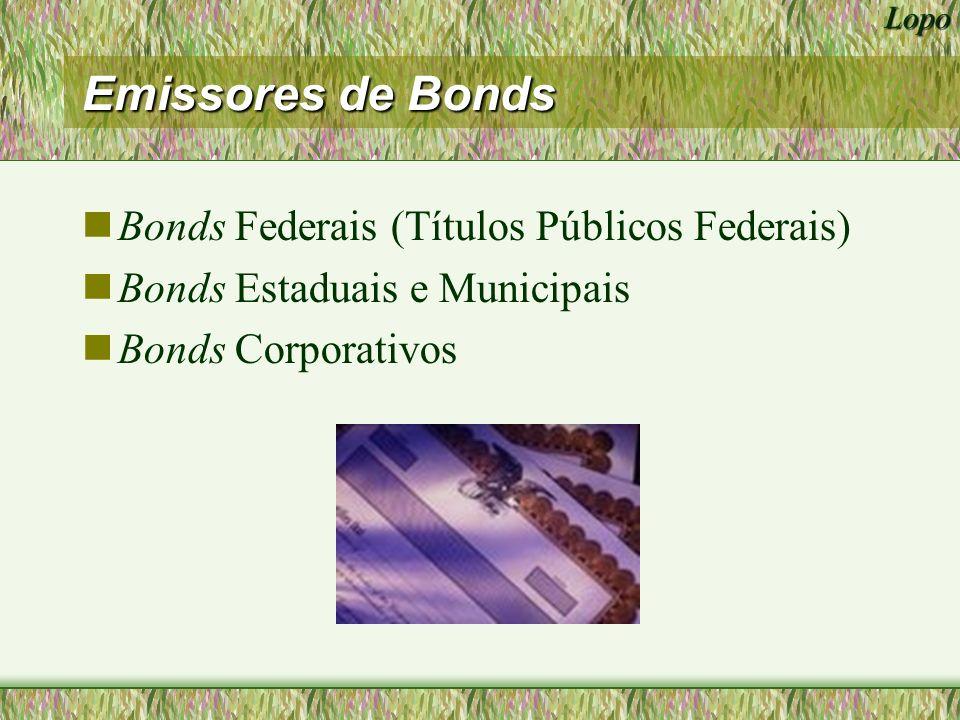 Lopo Bonds Corporativos nDebêntures Possuem prioridade sobre acionistas, mas não são assegurados perante outros credores nAsset-Backed Bonds Assegurados por propriedade real Propriedade dos bens revestem-se a favor dos bondholders em caso de default.