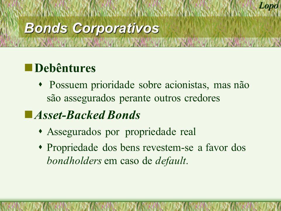 Lopo Tipos de Bonds nZero-Coupon Bonds Não pagam coupons antes da maturidade.