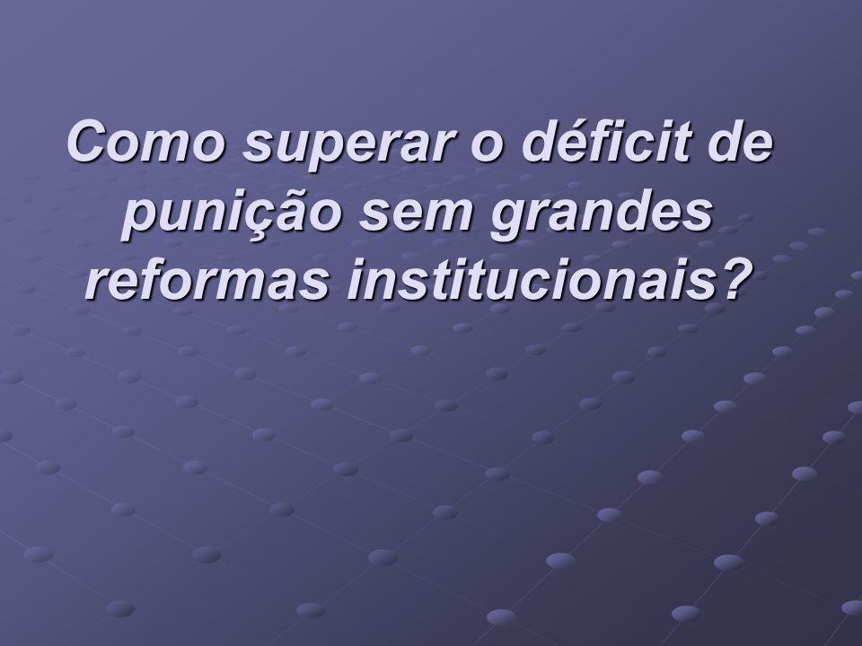 Como superar o déficit de punição sem grandes reformas institucionais?