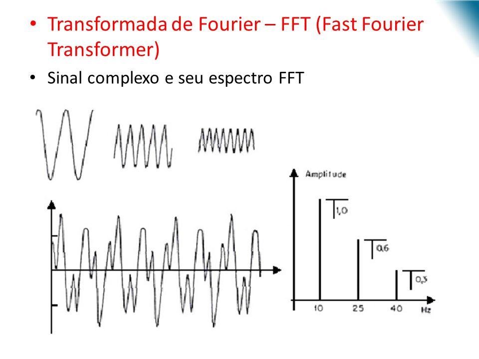 Transformada de Fourier – FFT (Fast Fourier Transformer) Sinal complexo e seu espectro FFT URI - DECC - Santo Ângelo