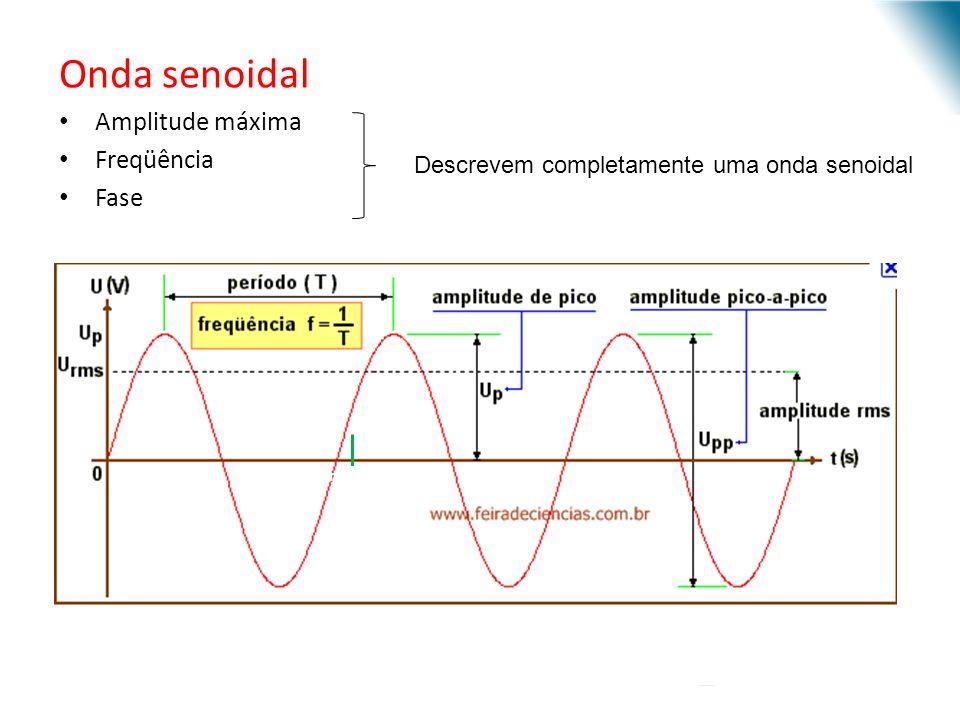 Onda senoidal Amplitude máxima Freqüência Fase URI - DECC - Santo Ângelo Descrevem completamente uma onda senoidal fim de ciclo
