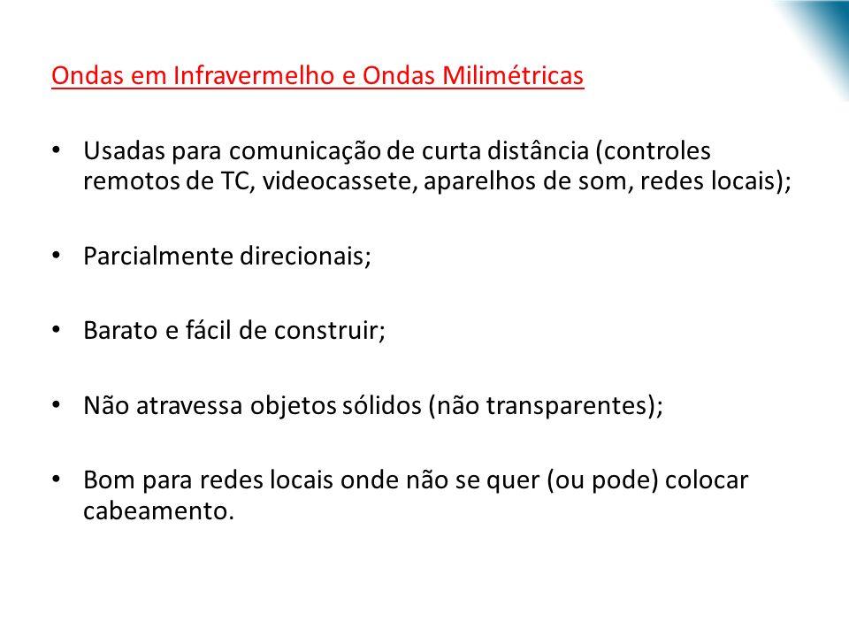 URI - DECC - Santo Ângelo Ondas em Infravermelho e Ondas Milimétricas Usadas para comunicação de curta distância (controles remotos de TC, videocasset