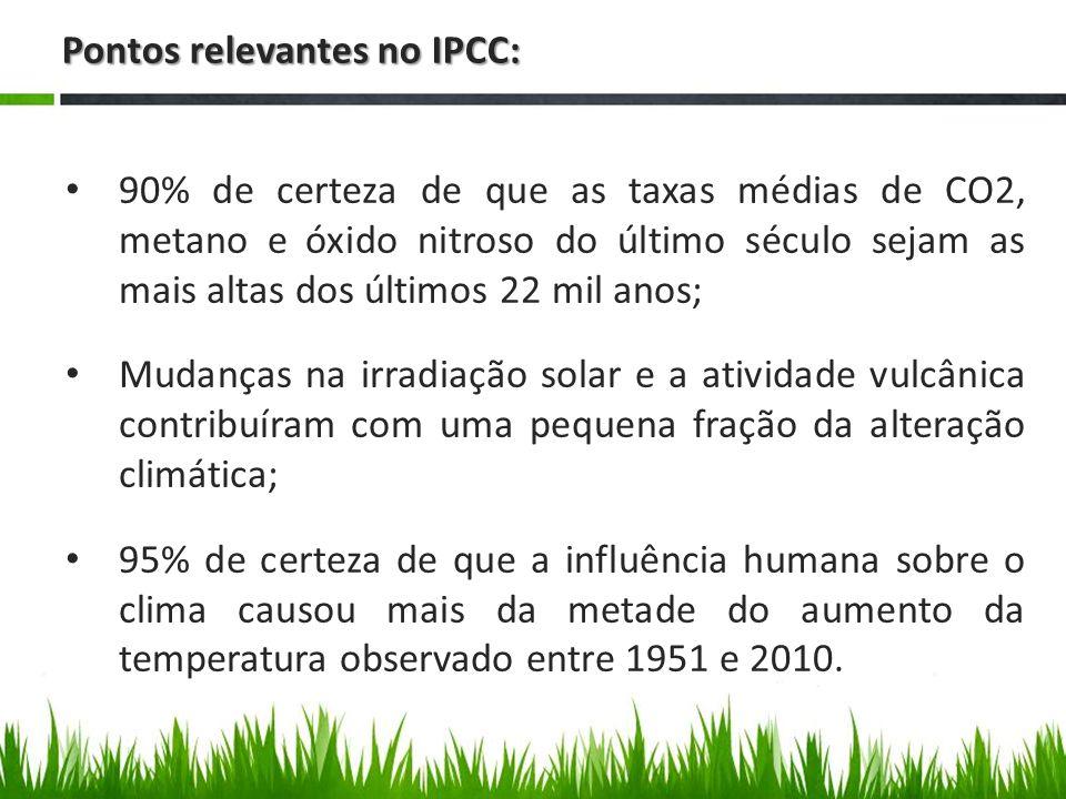 Pontos relevantes no PBMC: A temperatura na Amazônia deverá aumentar progressivamente de 1°C a 1,5°C até 2040 – com diminuição de 25% a 30% no volume de chuvas; Entre 3°C e 3,5°C no período de 2041 a 2070 – com redução de 40% a 45% na ocorrência de chuvas; E entre 5°C a 6°C entre 2071 a 2100.