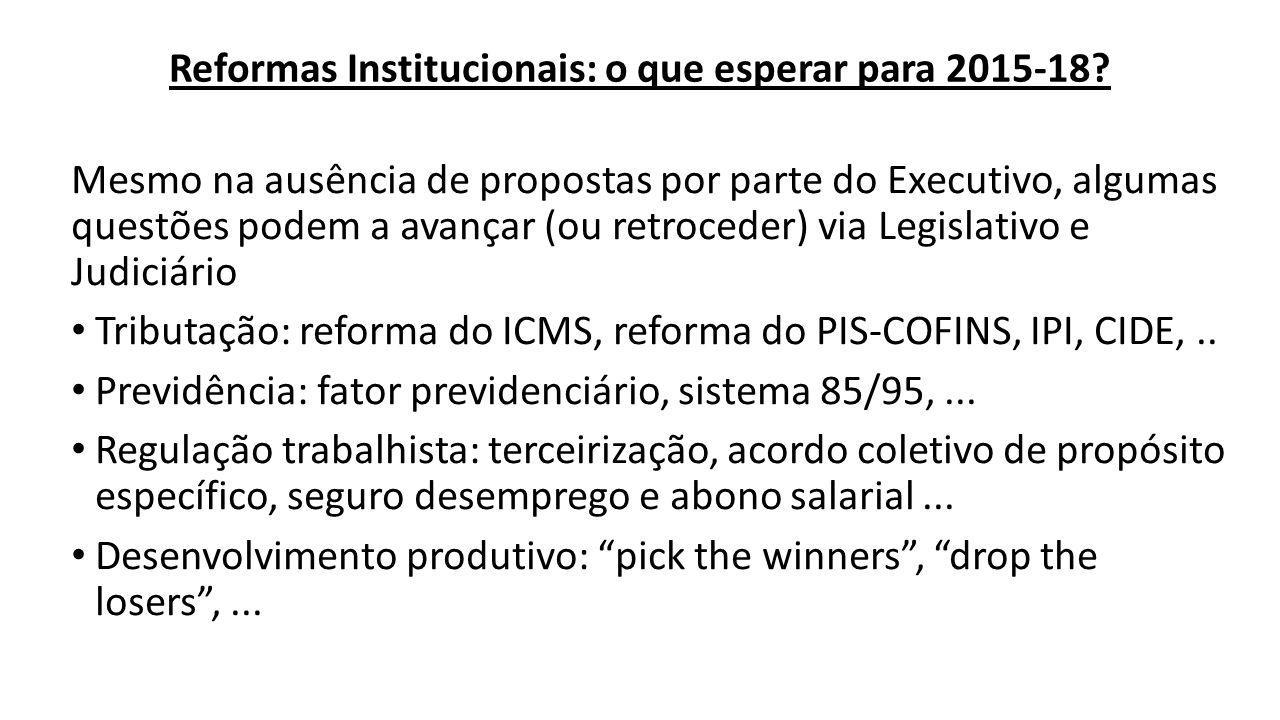 Reformas Institucionais: o que esperar para 2015-18.