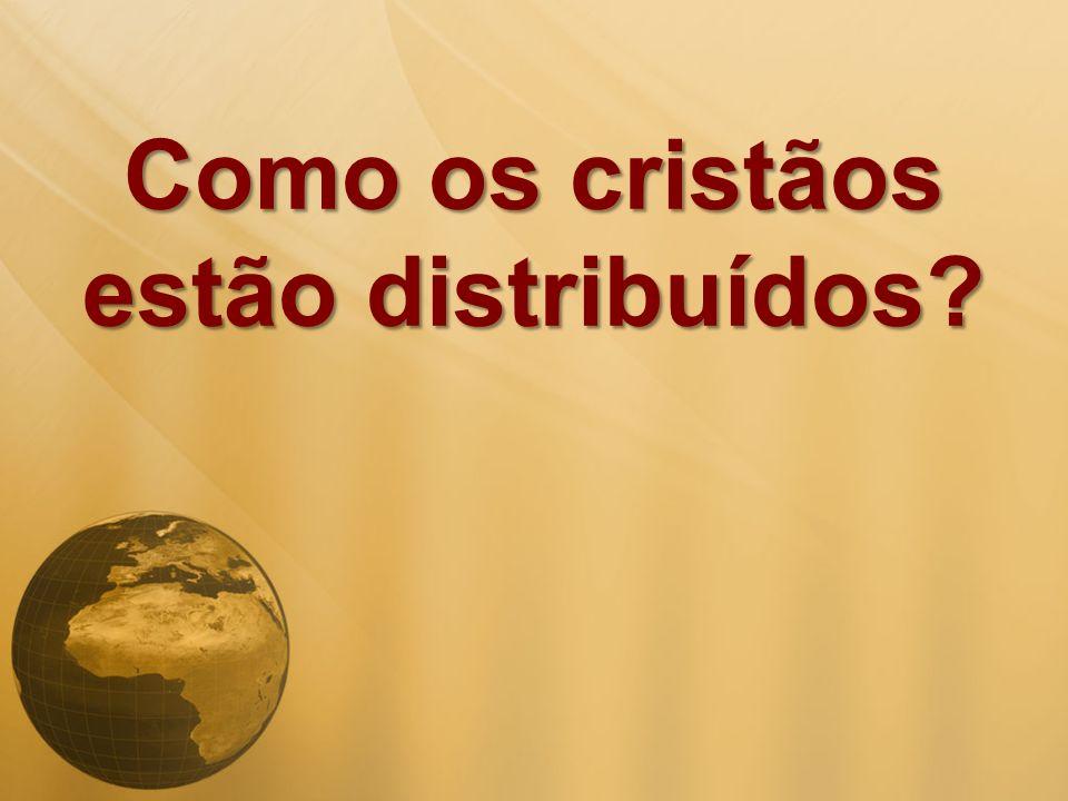 Como os cristãos estão distribuídos?