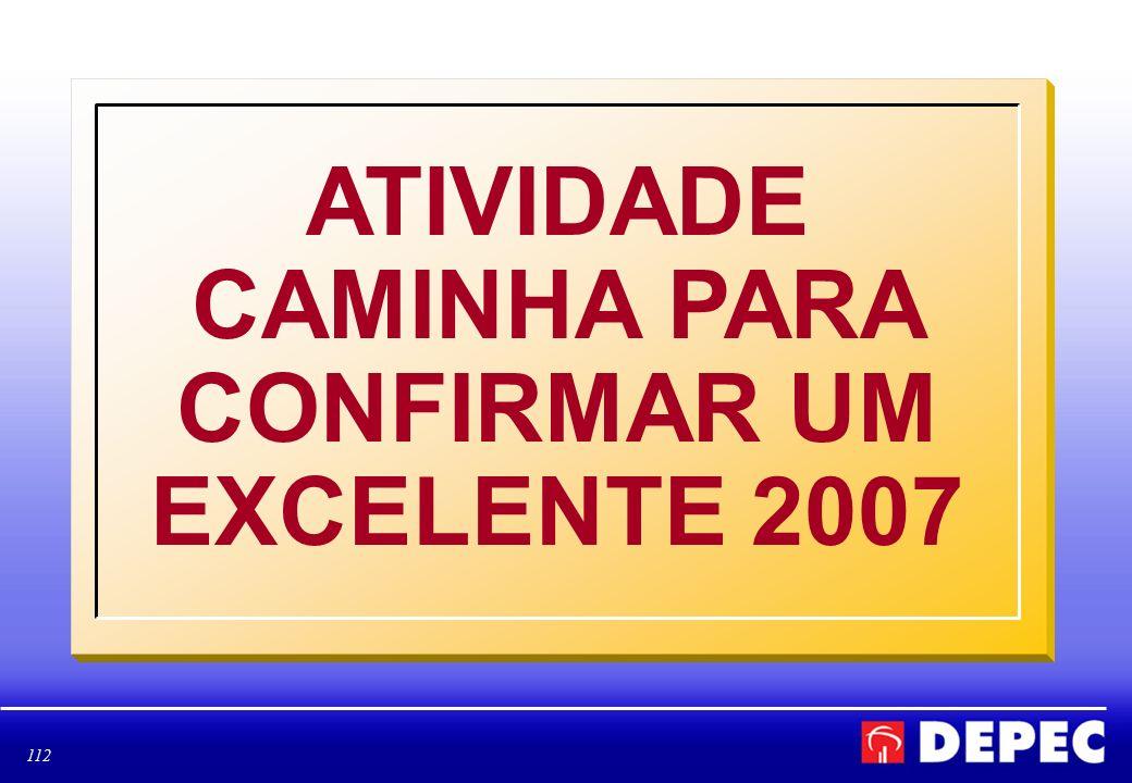 112 ATIVIDADE CAMINHA PARA CONFIRMAR UM EXCELENTE 2007