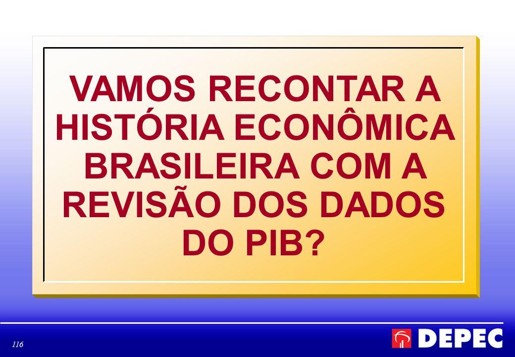 116 VAMOS RECONTAR A HISTÓRIA ECONÔMICA BRASILEIRA COM A REVISÃO DOS DADOS DO PIB?