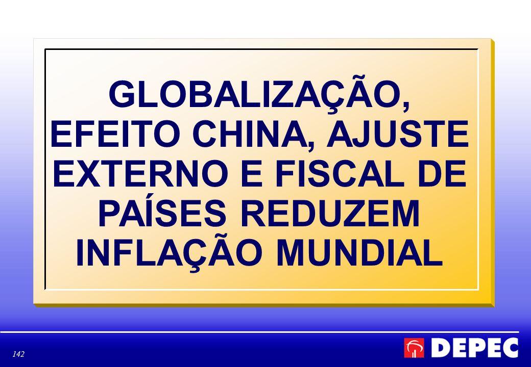 142 GLOBALIZAÇÃO, EFEITO CHINA, AJUSTE EXTERNO E FISCAL DE PAÍSES REDUZEM INFLAÇÃO MUNDIAL