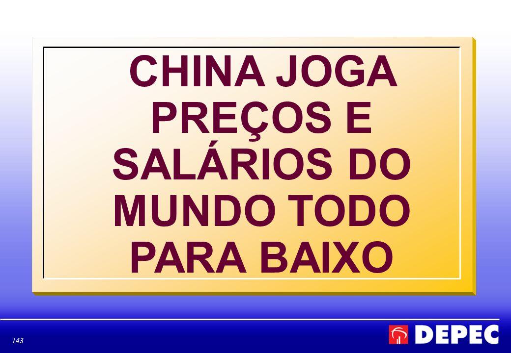 143 CHINA JOGA PREÇOS E SALÁRIOS DO MUNDO TODO PARA BAIXO