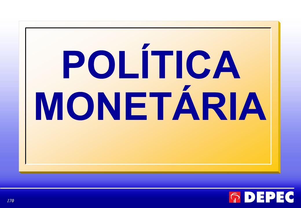 170 POLÍTICA MONETÁRIA