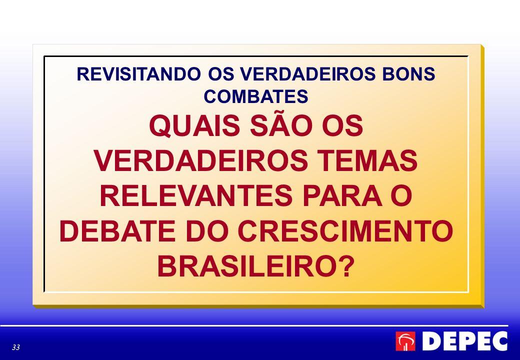 33 REVISITANDO OS VERDADEIROS BONS COMBATES QUAIS SÃO OS VERDADEIROS TEMAS RELEVANTES PARA O DEBATE DO CRESCIMENTO BRASILEIRO?