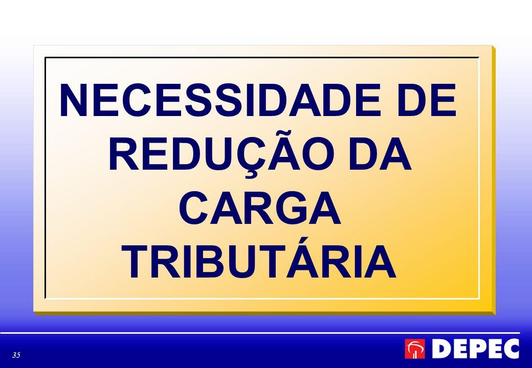 35 NECESSIDADE DE REDUÇÃO DA CARGA TRIBUTÁRIA