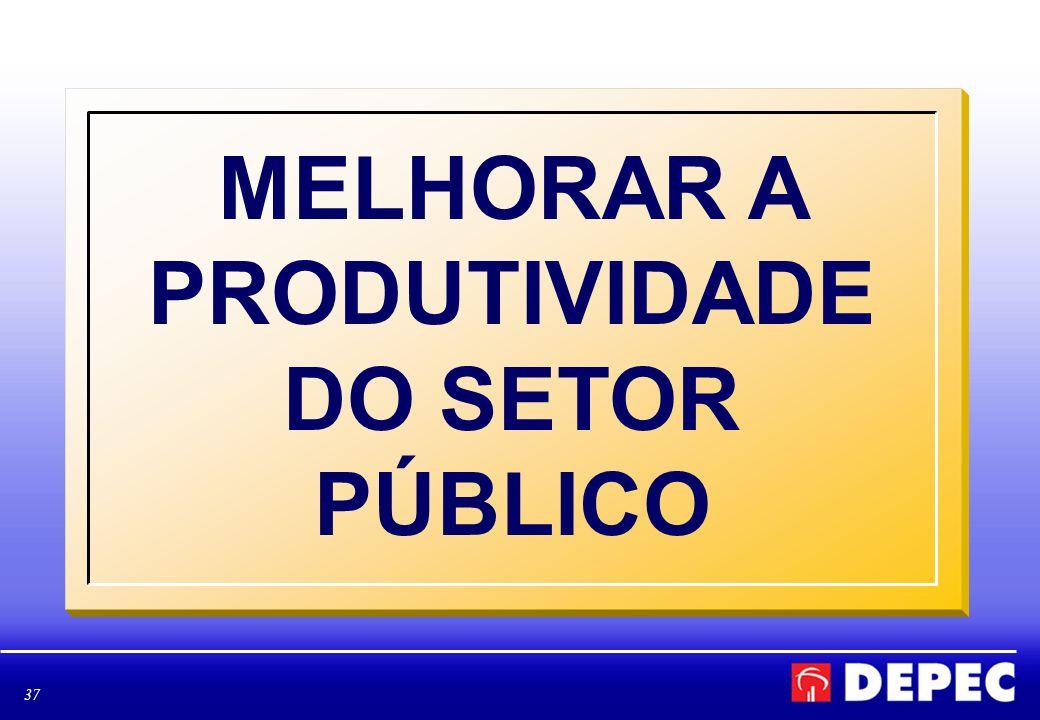 37 MELHORAR A PRODUTIVIDADE DO SETOR PÚBLICO