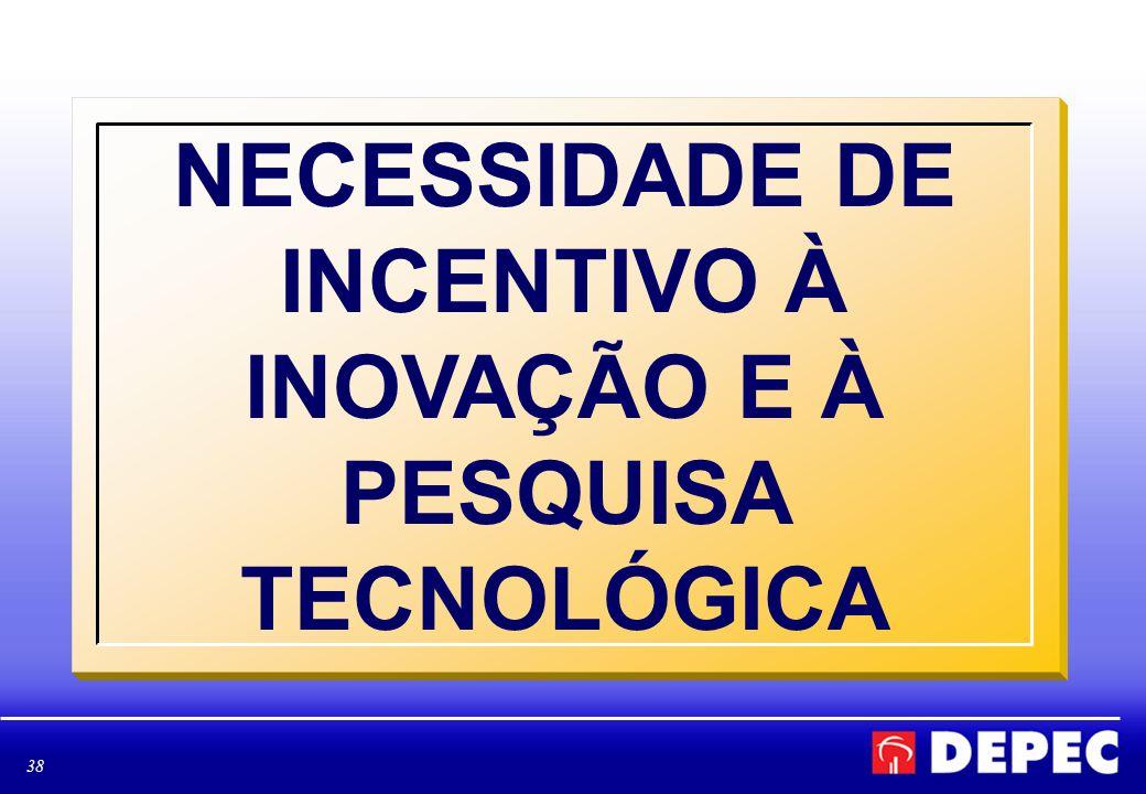 38 NECESSIDADE DE INCENTIVO À INOVAÇÃO E À PESQUISA TECNOLÓGICA