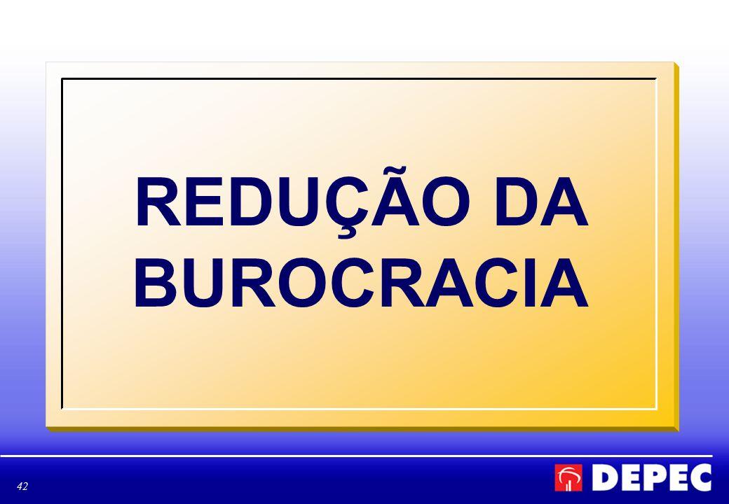 42 REDUÇÃO DA BUROCRACIA