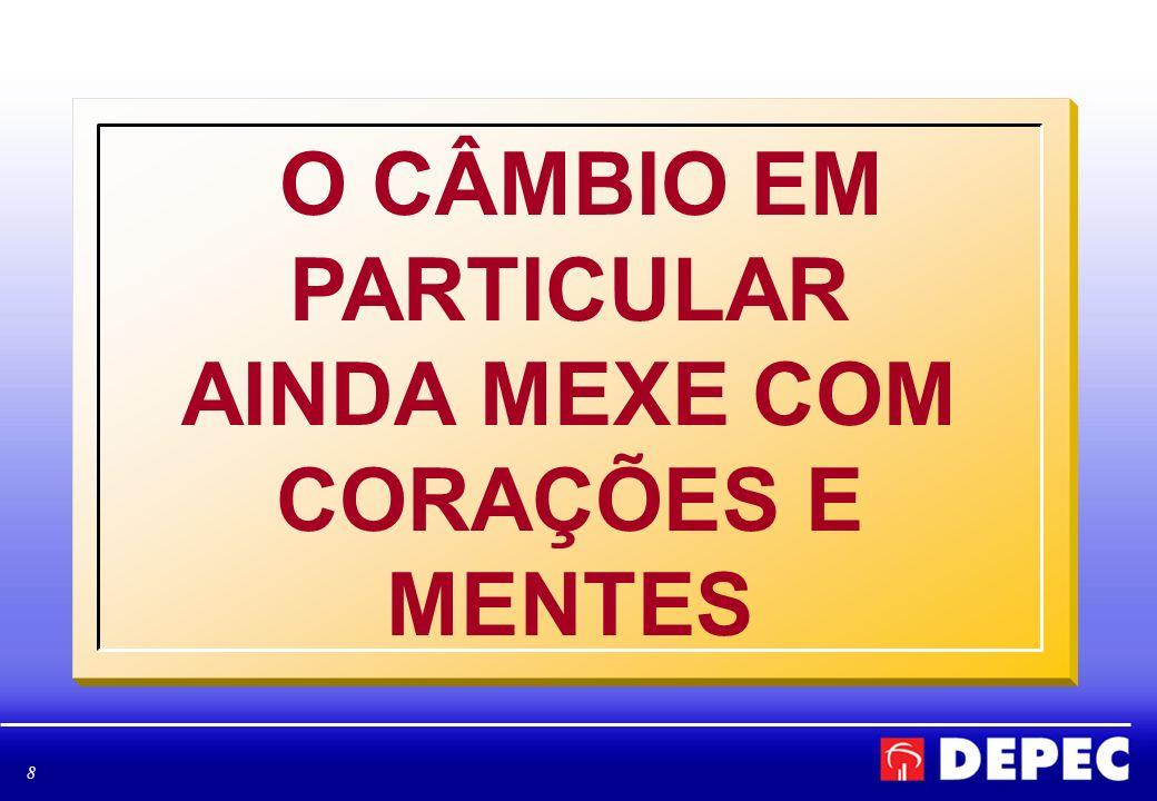 8 O CÂMBIO EM PARTICULAR AINDA MEXE COM CORAÇÕES E MENTES