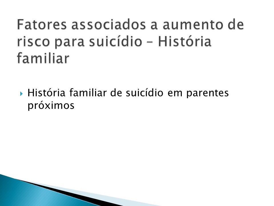 História familiar de suicídio em parentes próximos