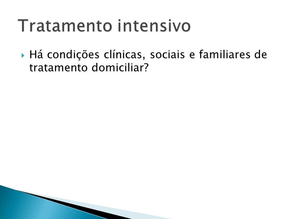 Há condições clínicas, sociais e familiares de tratamento domiciliar?