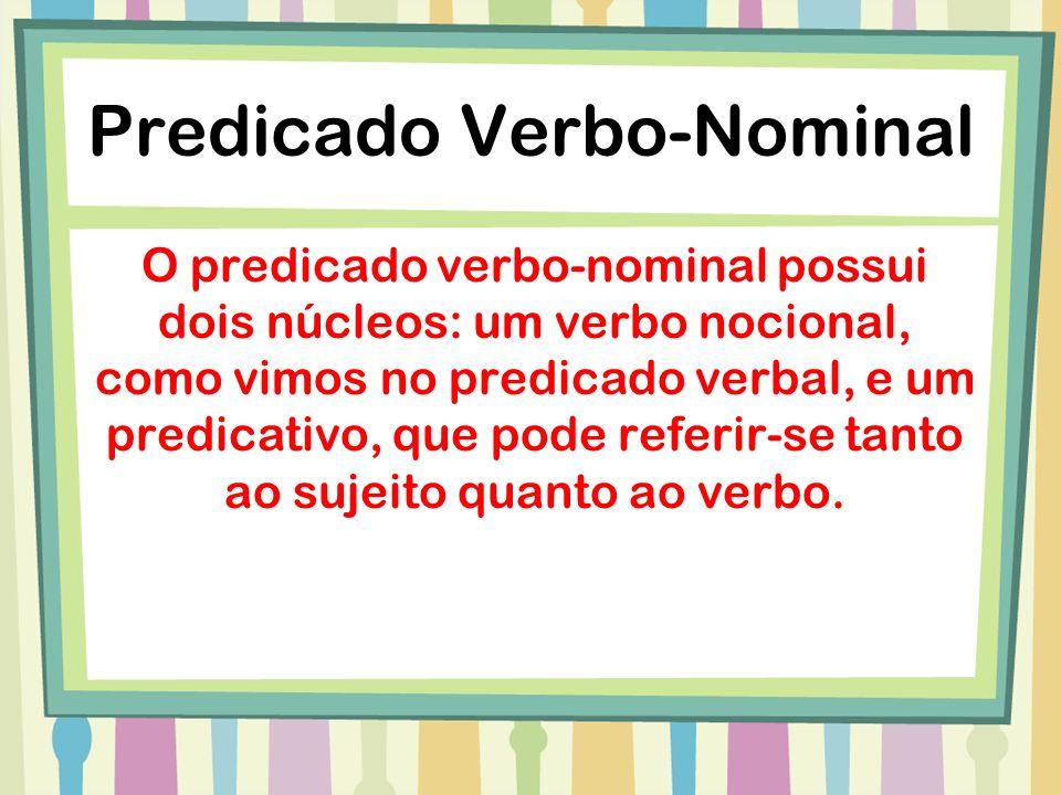 Predicado Verbo-Nominal Os alunos estudaram cautelosos para o simulado.