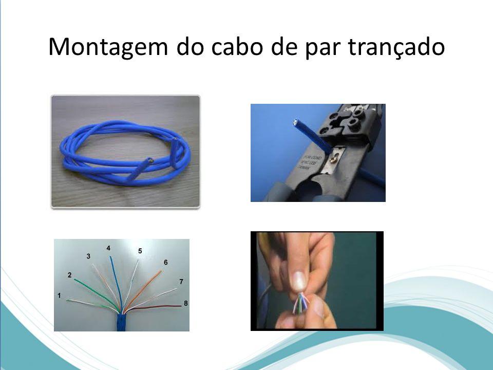 Montagem do cabo de par trançado