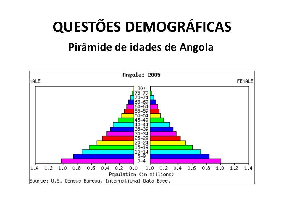 QUESTÕES DEMOGRÁFICAS Pirâmide de idades de Angola