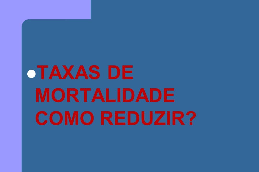 TAXAS DE MORTALIDADE COMO REDUZIR?