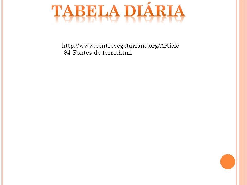 http://www.centrovegetariano.org/Article -84-Fontes-de-ferro.html